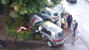 Liderul PC Arges a provocat un accident rutier