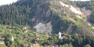 Rosia Montana, sit istoric de categoria A. Harta cu zona de protectie de 2 km de la limita intravilanului