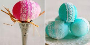 Metode creative pentru vopsirea oualor de Paste: cum obtineti modele unice folosind bucati de matase sau dantela