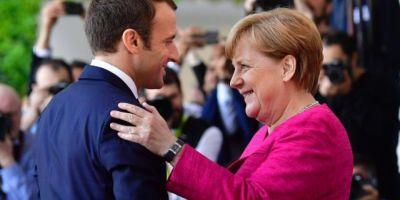 Macron si Merkel prezideaza o sedinta comuna a Guvernelor francez si german